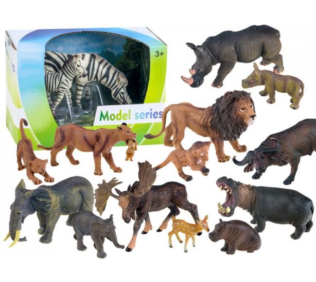 Įvairios gyvūnų figūrėlės