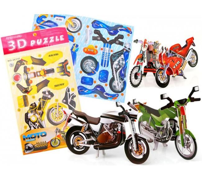 3D dėlionė  Motociklas