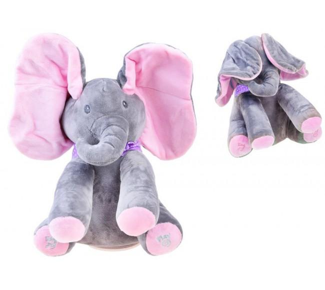 Dainuojantis dramblys, rožinis