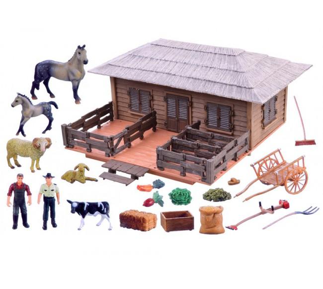 Didelis ūkis su gyvūnais,...
