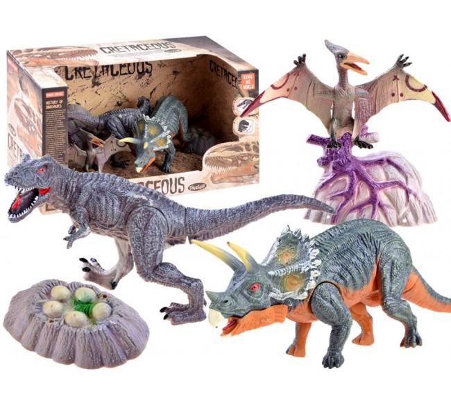 Dinozaurų figūrėlių rinkinys A