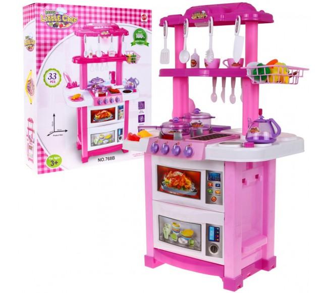 Dvipusė virtuvė, rožinė,...