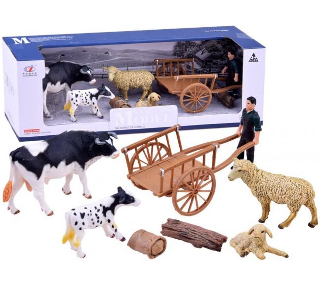Gyvūnų ūkis su karvėmis ir...