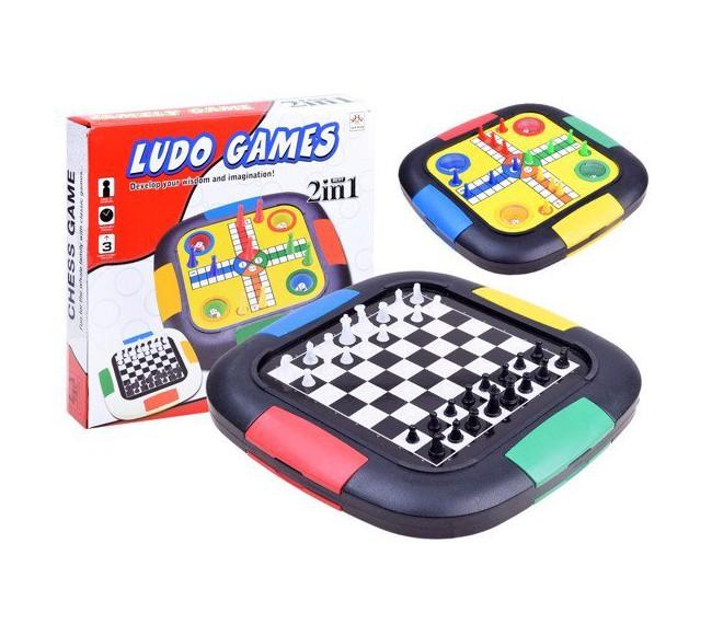 Stalo žaidimų rinkinys 2in1