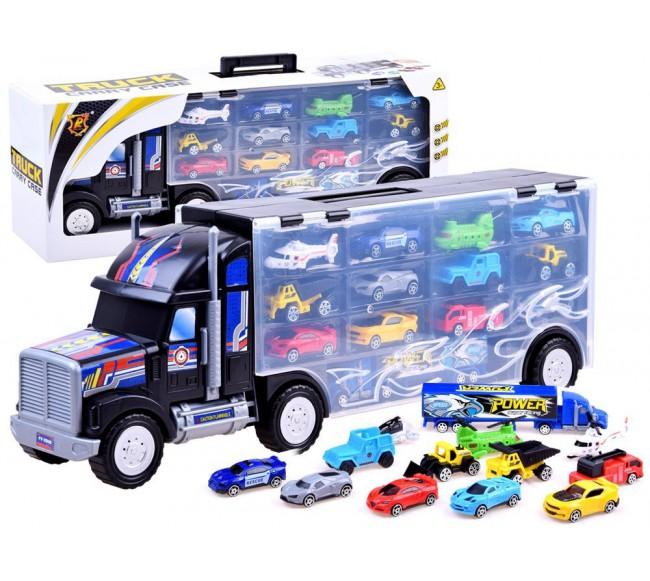 Sunkvežimis su įvairiomis...