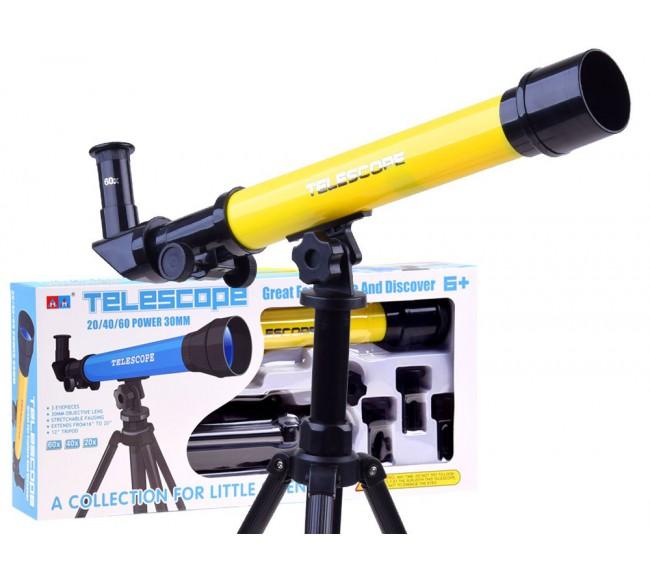 Vaikiškas teleskopas, geltonas