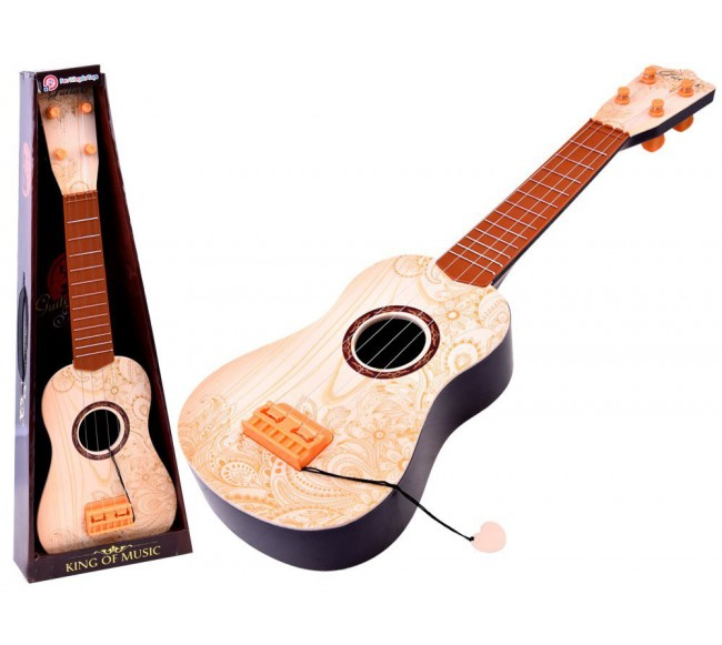 Žaislinė gitara, ruda