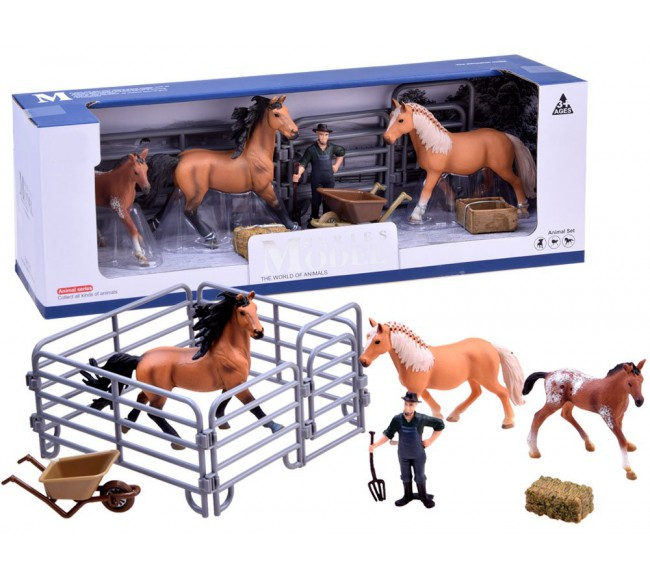 Žirgų figūrėlių rinkinys A