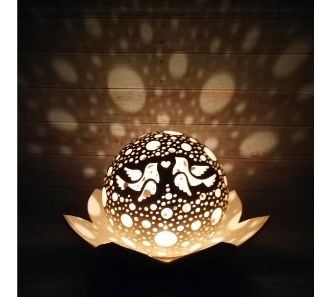 """Žvakidė """"Balandžiai II"""""""