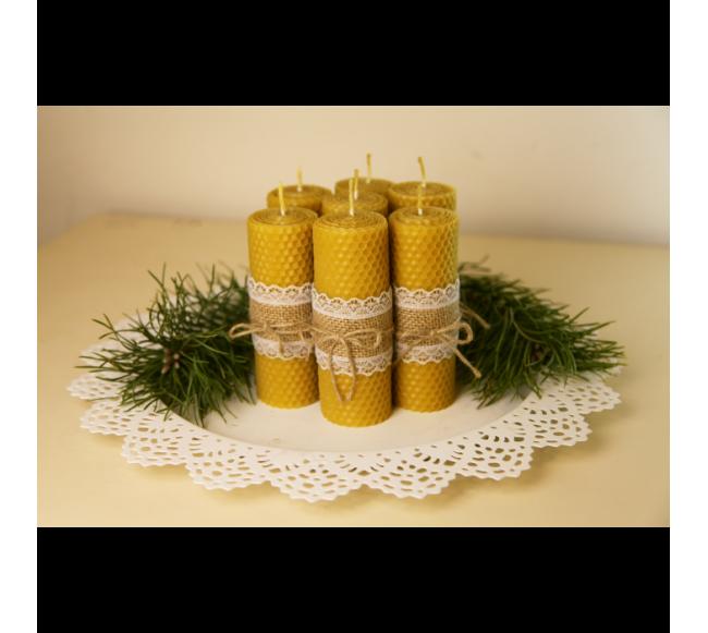 Dvarakos bičių vaško žvakė