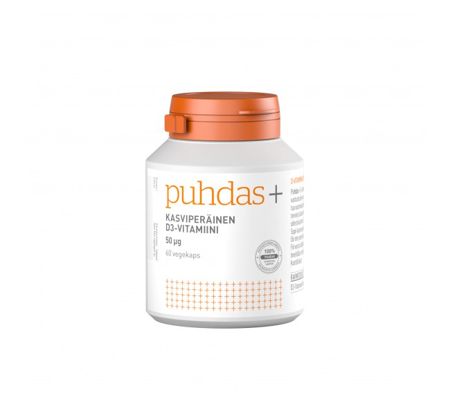 Puhdas+ VEGAN vitaminas D3
