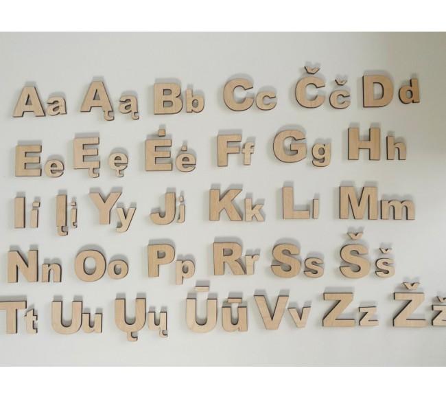 Abėcėlės raidės 5-3cm...