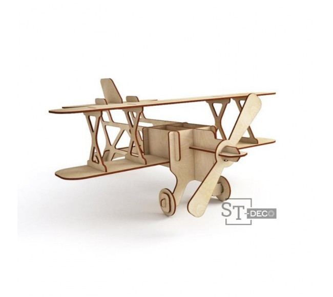 Didelis medinis lėktuvas