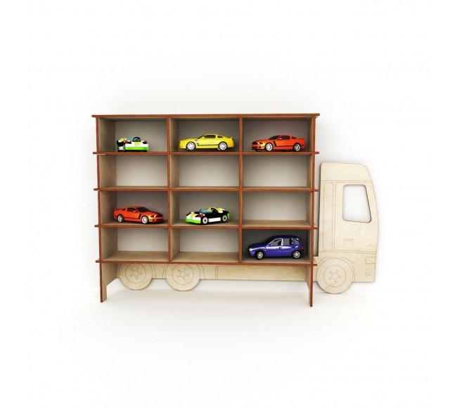 Medinė lentyna – sunkvežimis