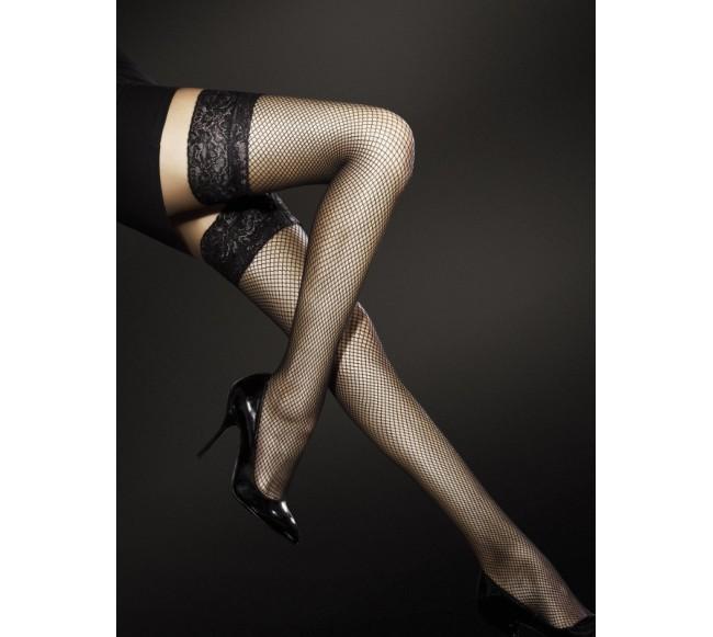 Prilipinamos tinklinės kojinės LIZA, juodos