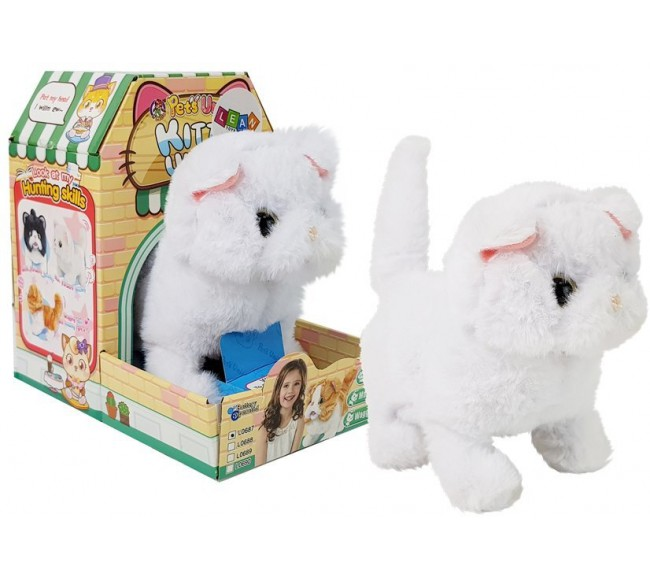 Interaktyvus kačiukas, baltas