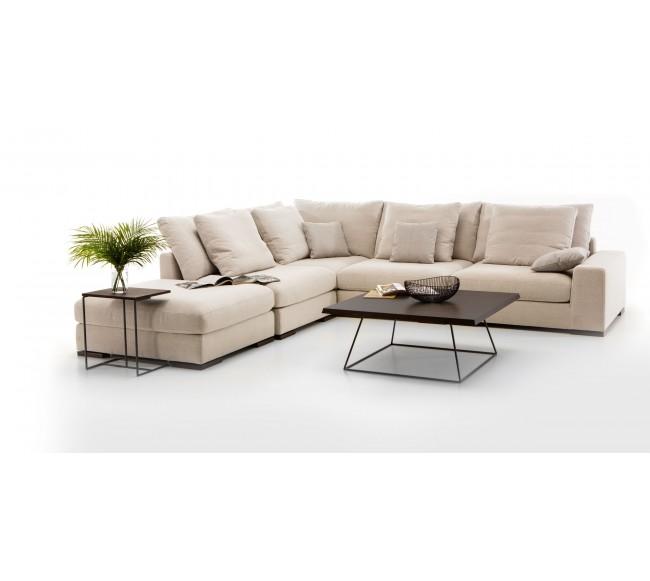 Kampinė sofa ir pufas Avant
