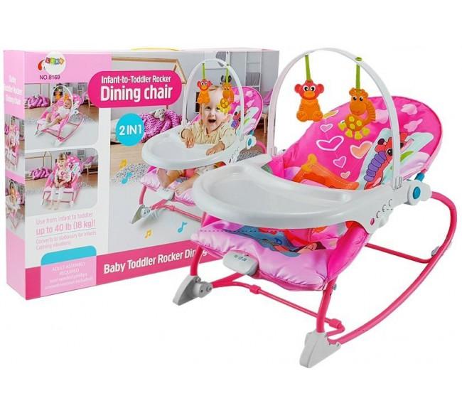 Kūdikio kėdė 2in1, rožinė