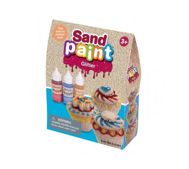 Blizgūs kinetinio smėlio dažai