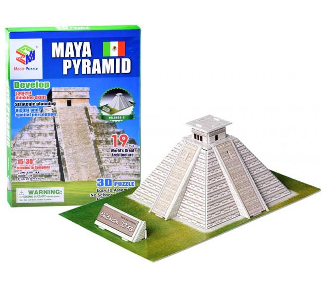 3D dėlionė  Maya Pyramid