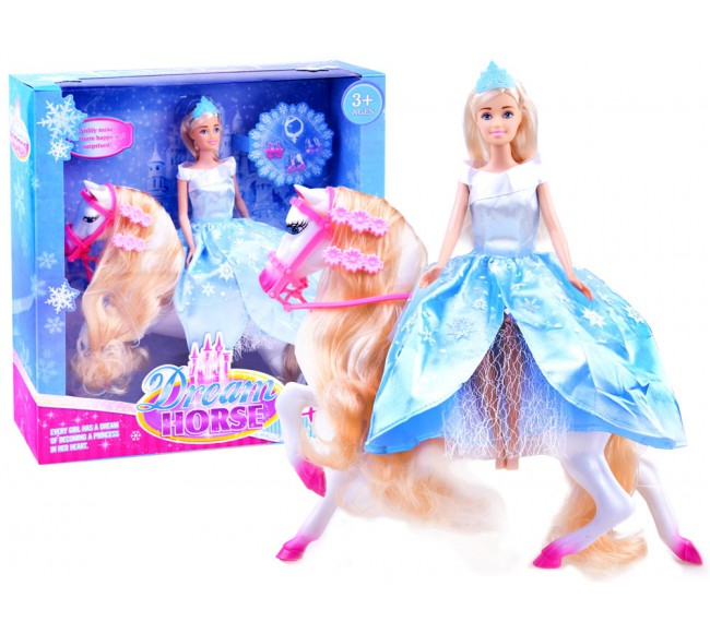 Lėlytė princesė ant žirgo